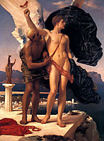 Daedalus and Icarus, 1869, leighton