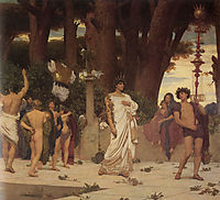 The Daphnephoria, detail right, 1874-1876, leighton