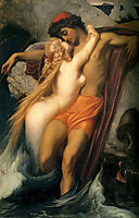 The Fisherman and the Syren, 1856-1858, leighton