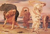 Greek Girls Picking up Pebbles by the Sea, 1871, leighton