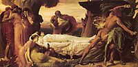 Hercules Wrestling with Death for the Body of Alcestis, 1869-1871, leighton