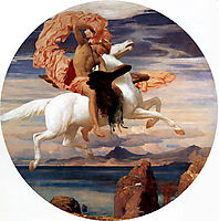 Perseus on Pegasus Hastening to the Rescue of Andromeda, 1895-1896, leighton