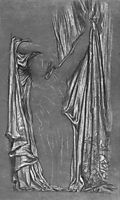 Study of drapery for The Last Watch of Hero 1, 1887, leighton