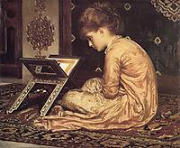 Study: At a Reading Desk, 1877, leighton