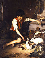 Childs with rabbits, 1879, lembesis