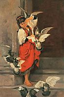 The girl with pigeons, lembesis