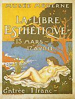 Exhibition poster for La Libre Esthétique , 1910, lemmen