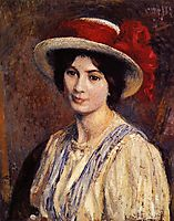 Hat with a Red Ribbon, lemmen