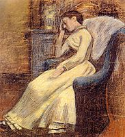 Julie Lemmen Sleeping in an Armchair, lemmen