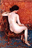 Sitting Nude on Chair, c.1910, lemmen
