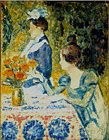 Two Women in the Garden, c.1900, lemmen