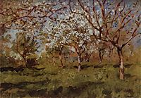 Apple trees in blossom, 1896, levitan
