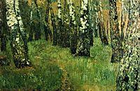 At the birch grove, c.1885, levitan