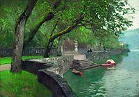 At the lake Como. Enbankment., 1894, levitan