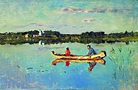 At the lake. Fishermen. , c.1898, levitan