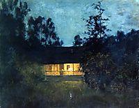 At the summer house in twilight, c.1895, levitan