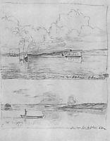 At Volga, c.1885, levitan