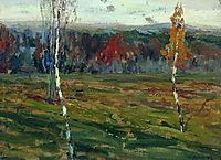 Autumn. Birches., 1899, levitan