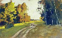 Autumn evening. Trail in the forest., 1894, levitan