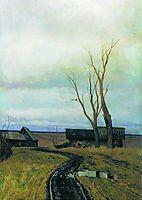 Autumn. Road in a Village., 1877, levitan