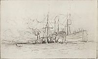 Barges, c.1893, levitan
