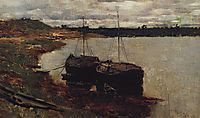 Barges. The Volga., 1889, levitan