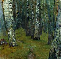 Birches. Forest edge., c.1885, levitan