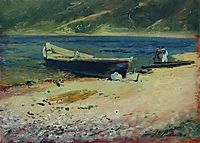 Boat on the coast, c.1885, levitan