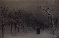Boulevard in the evening., 1883, levitan