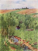 By the creek, 1899, levitan