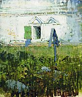 By the wall of church, 1885, levitan