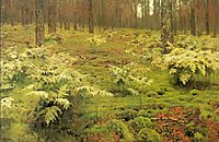 Ferns in a forest, 1895, levitan
