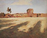 Field after Harvest., 1897, levitan