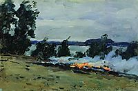 Fires, c.1885, levitan