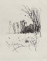 Forest edge , c.1885, levitan