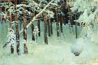 Forest in the winter, c.1885, levitan