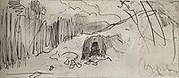 A hovel, c.1885, levitan