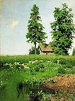 Hut on the meadow, c.1885, levitan
