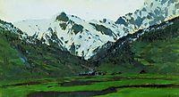 In Alps at spring, 1897, levitan