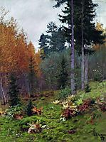 In the forest at autumn, 1894, levitan