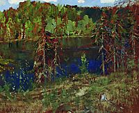 Lake in the forest, levitan