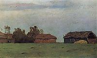 Landscape with buildings, c.1895, levitan