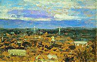 Landscape with a convent, c.1895, levitan