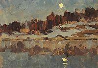Landscape with moon, c.1895, levitan
