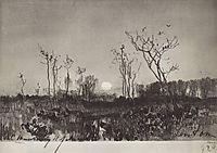 Landscape with moon, c.1885, levitan