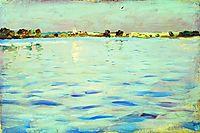 The last rays of the sun. A lake., 1899, levitan