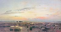 Marsh at evening, 1882, levitan