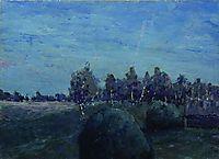 Moonlit landscape, c.1895, levitan
