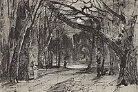 Moonlit night at park, 1885, levitan