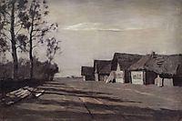 Moonlit Night. A Village, 1897, levitan